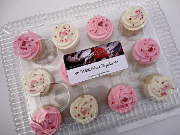 "Valentine's Baby Shower ""White Cloud"" Cupcakes"